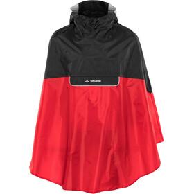 VAUDE Covero II Ponczo, czarny/czerwony